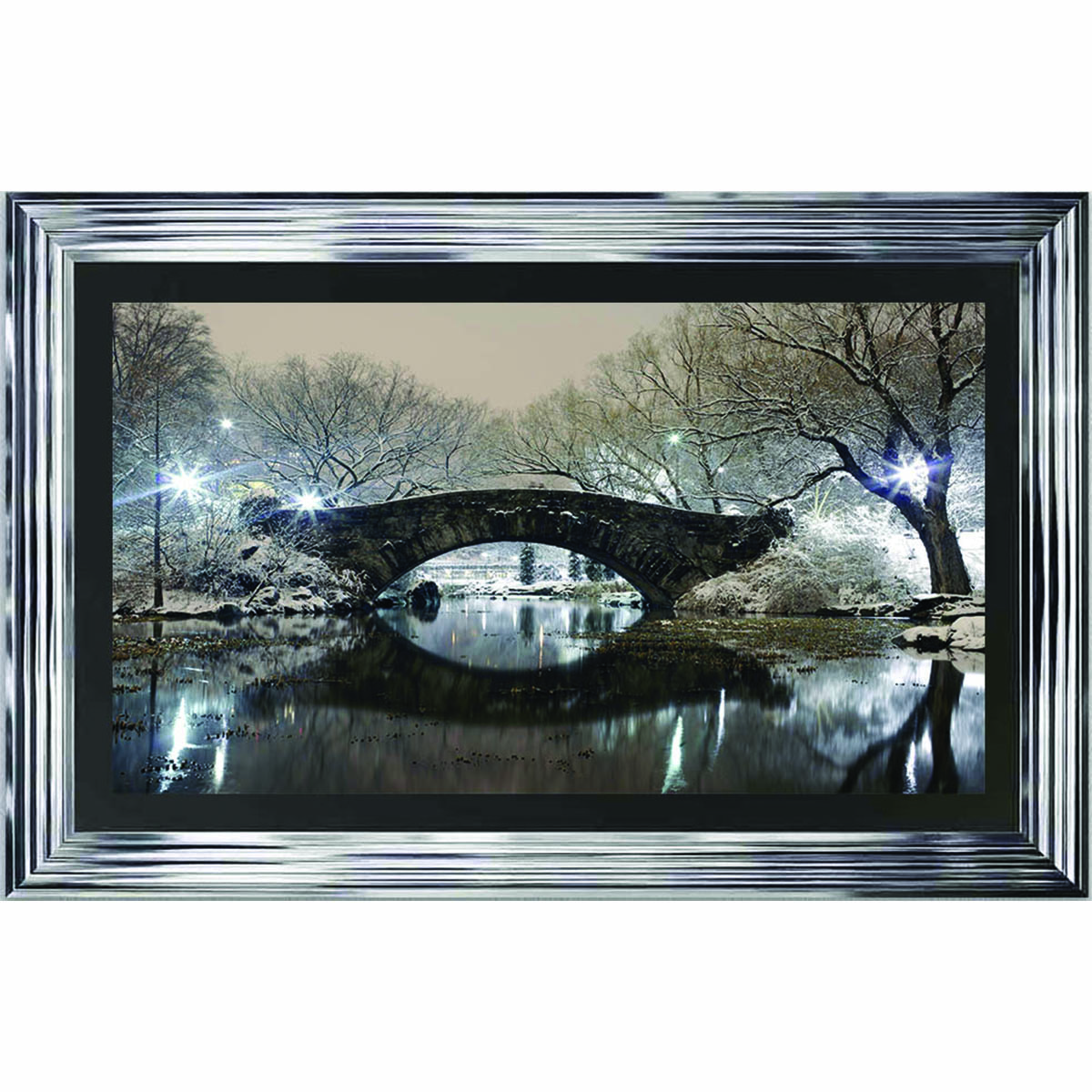 New York Gapstow Bridge Framed Liquid Artwork