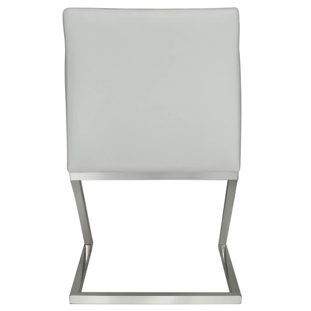 Astro Pair of Dining Chairs White and Chrome