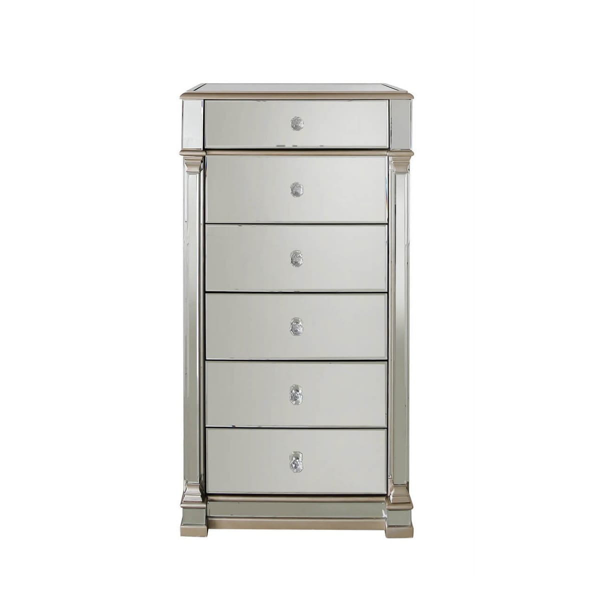 Athena Champagne 6 Drawer Cabinet