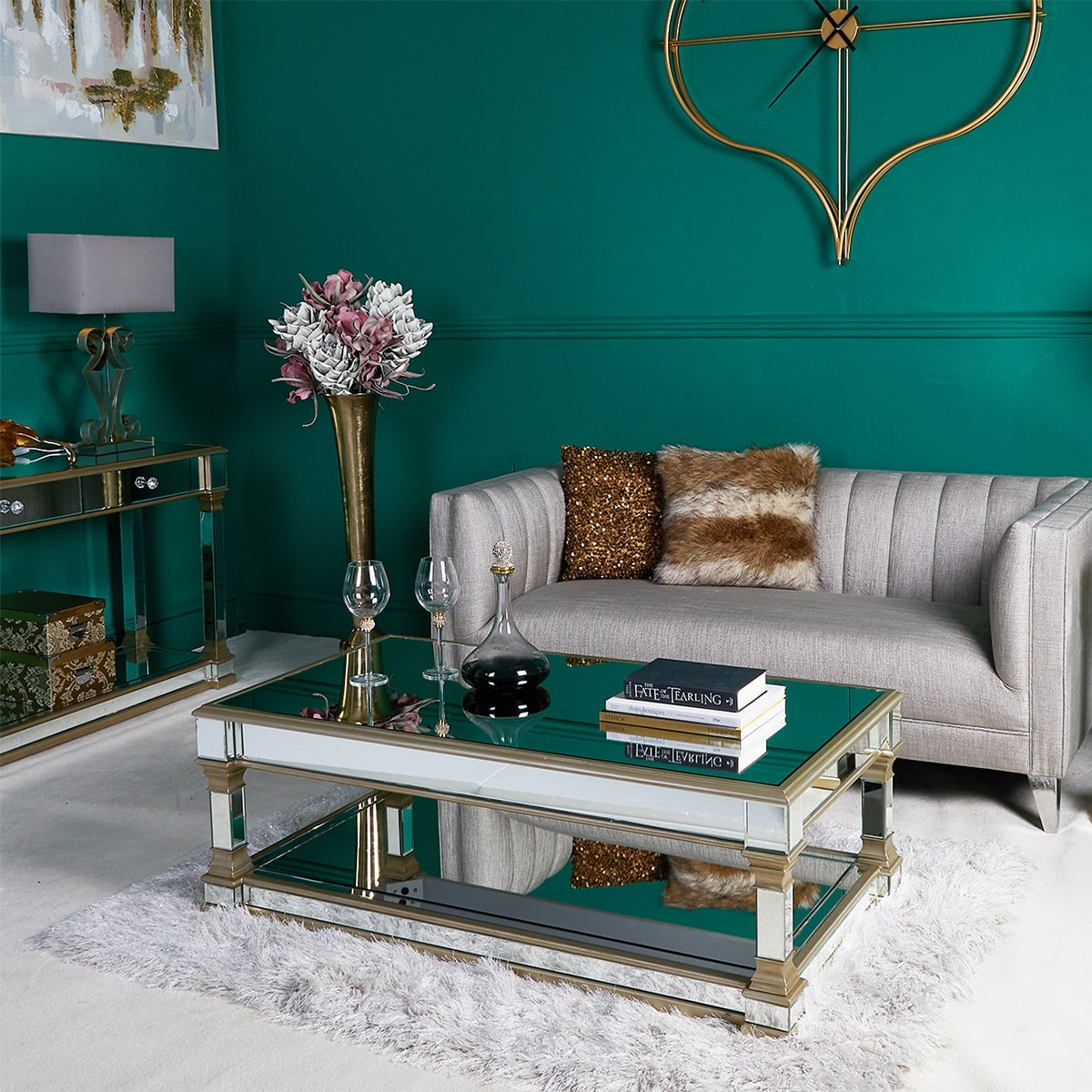 Athena Champagne Coffee Table