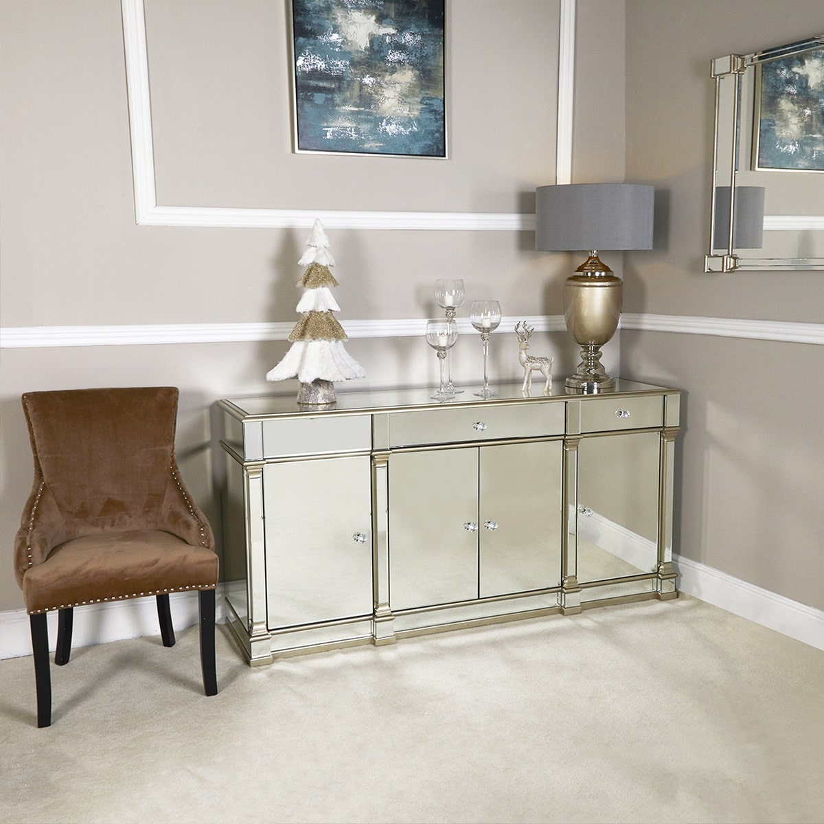 Athena Champagne Sideboard