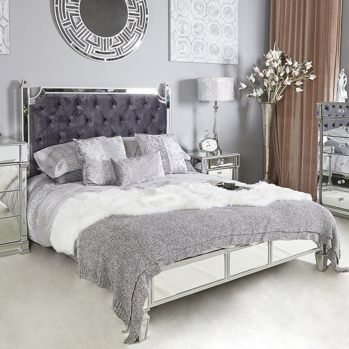 Athena Silver Bed King Size
