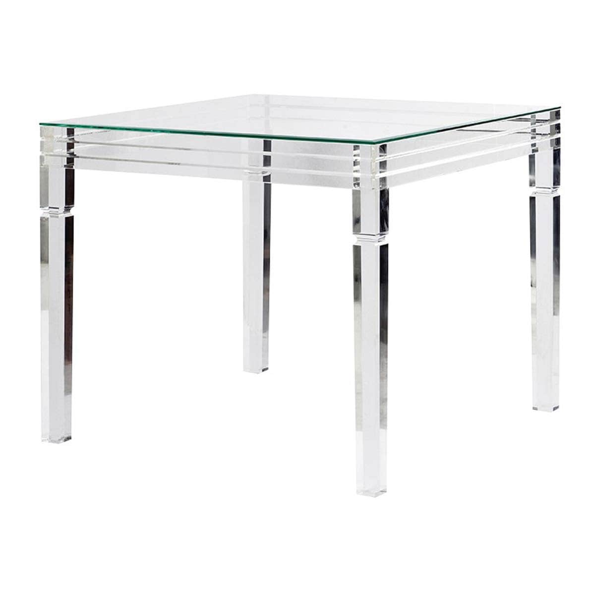Atlas Square Acrylic and Glass Dining Table