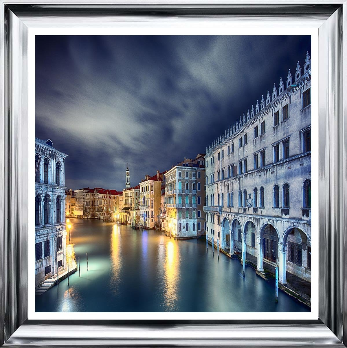 Blue Venice Liquid Art by Sarah Clayton