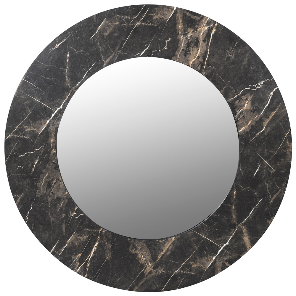 Faux Marble Mirror Round Mirror Large Wall Mirror