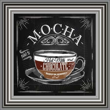 Mocha Liquid Art by Sarah Clayton