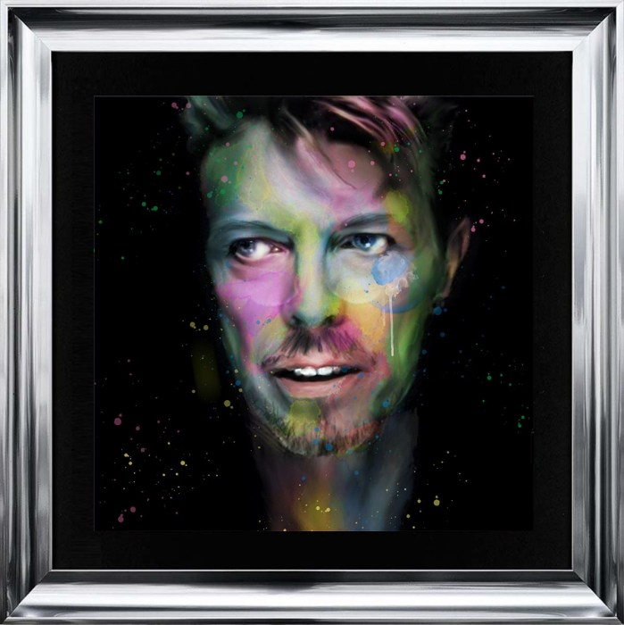 Darkside of Bowie Liquid Art by Sarah Clayton - Trade Creations Ltd Darkside of Bowie Liquid Art by Sarah Clayton
