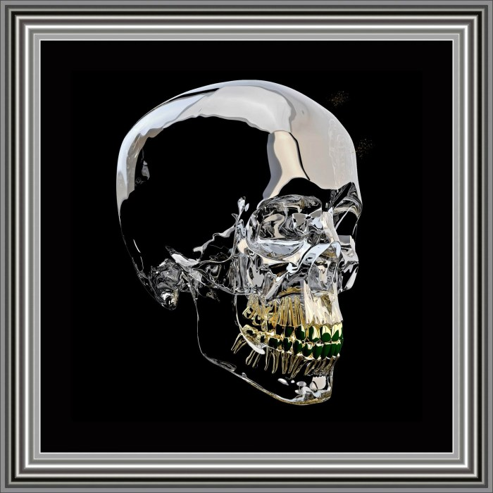Glass Skull by Sarah Clayton