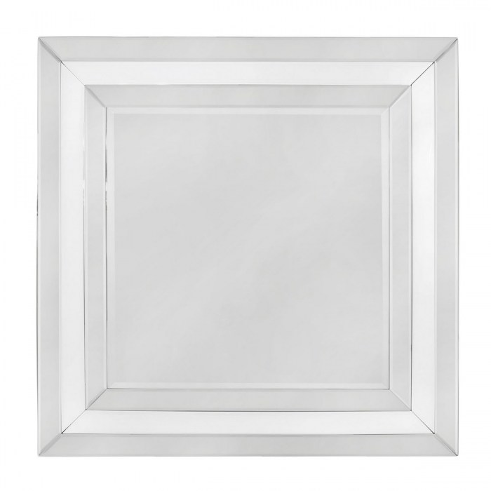 Mayfair square wall mirror MR141-00-WHCL
