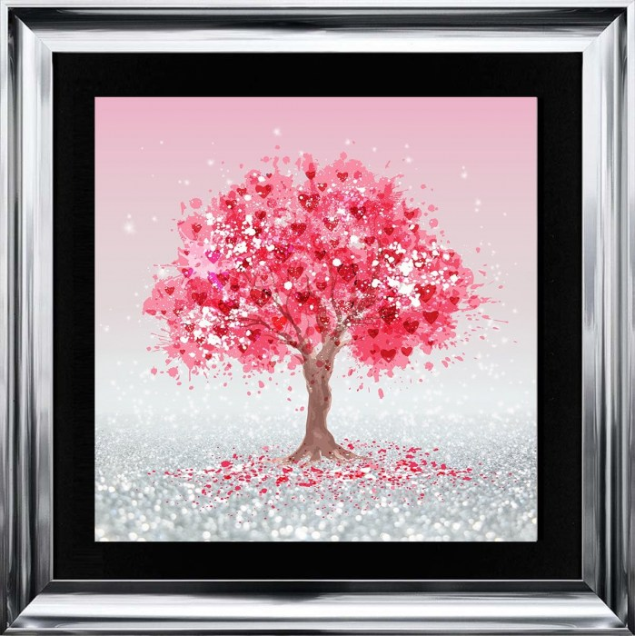 Pink Tree Of Love by Sarah Clayton