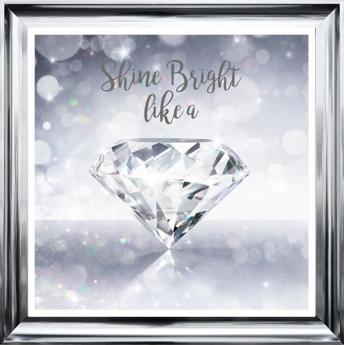 Shine Bright Like a Diamond Liquid Art by Sarah Clayton
